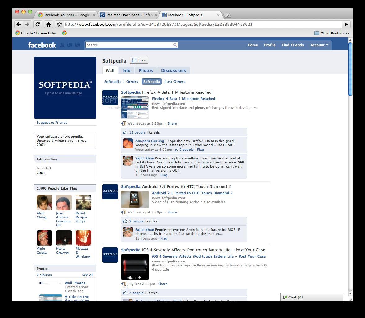 Facebook Rounder Google Chrome Plugin