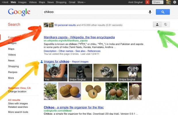 Google plus search and share