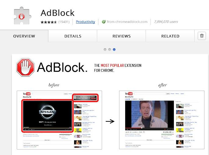 ad block google chorme extension