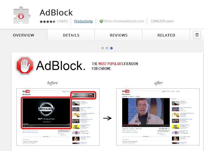 ad block google chorme extension