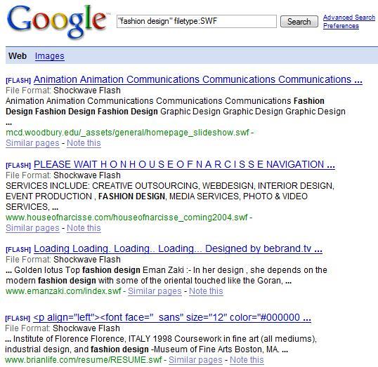 filetype operator google
