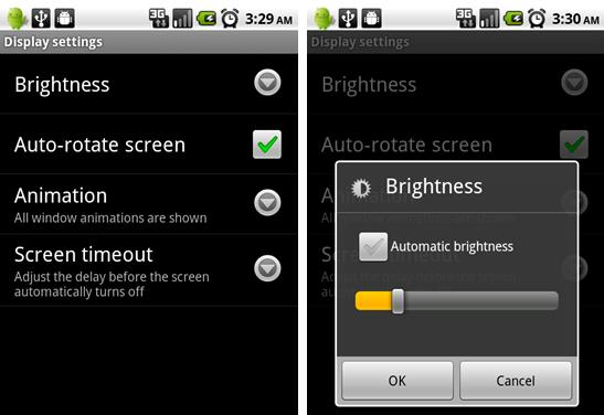 reduce brightness