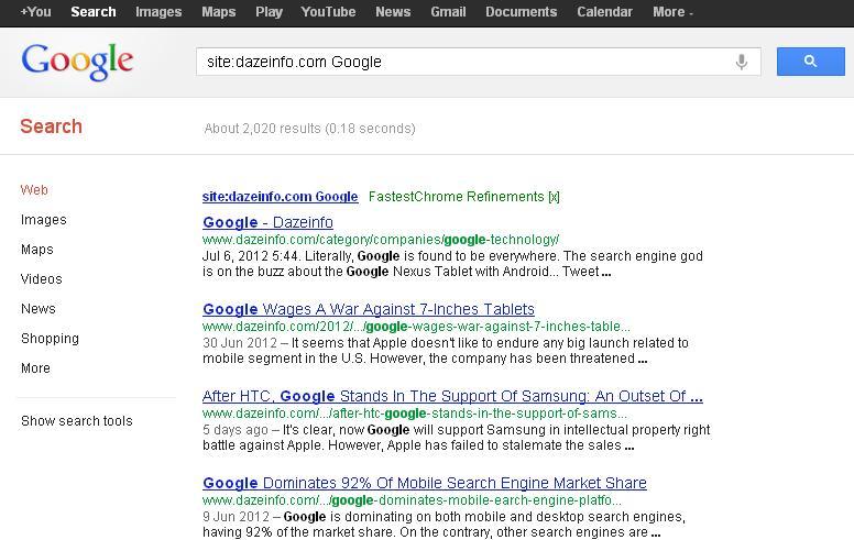 site operator google