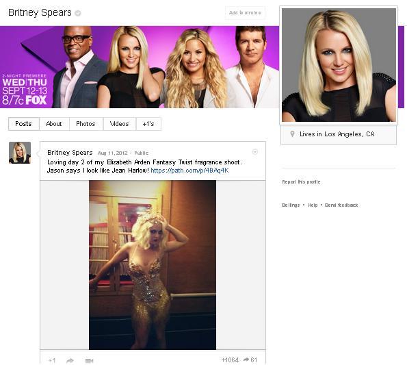 google+ vanity url britney spears