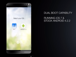 Android and iOS dual OS Smartphone