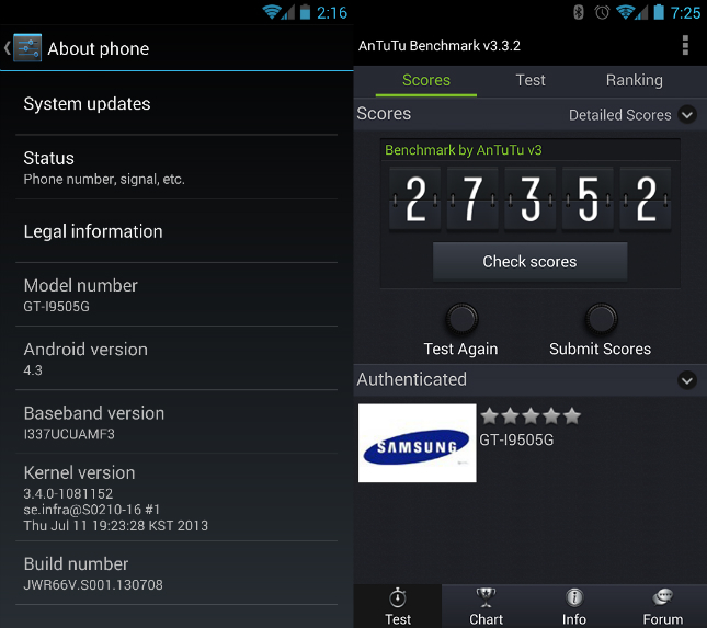 Android 4.3 Build Leaked Screenshot
