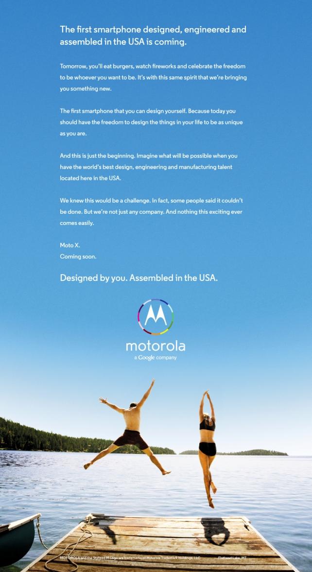 Motorola Google Android Moto X1 Ad