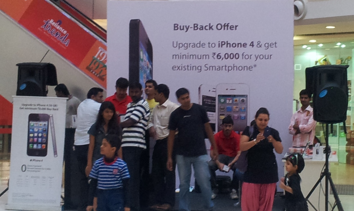 Apple iPhone 5 and iPhone 4 buy back offer in India