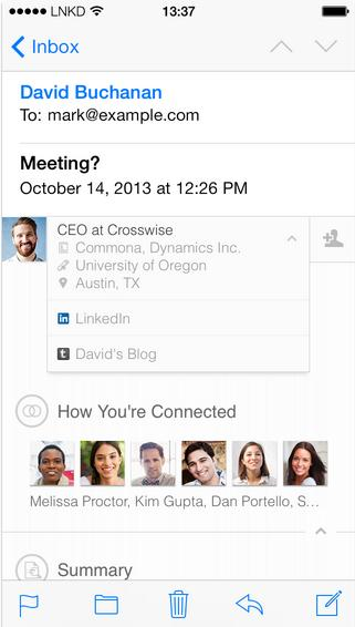 Intro feature for LinkedIn