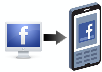 facebook desktop to facebook mobile