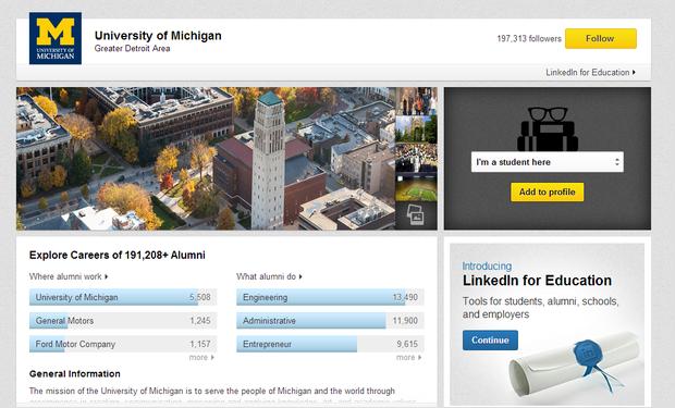michigan university page