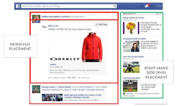 news feed ads