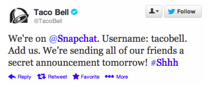 Mobile Marketing Snapchat Tacobell