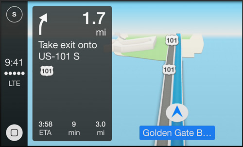 Apple maps inbuilt in carplay with iOS 7.1