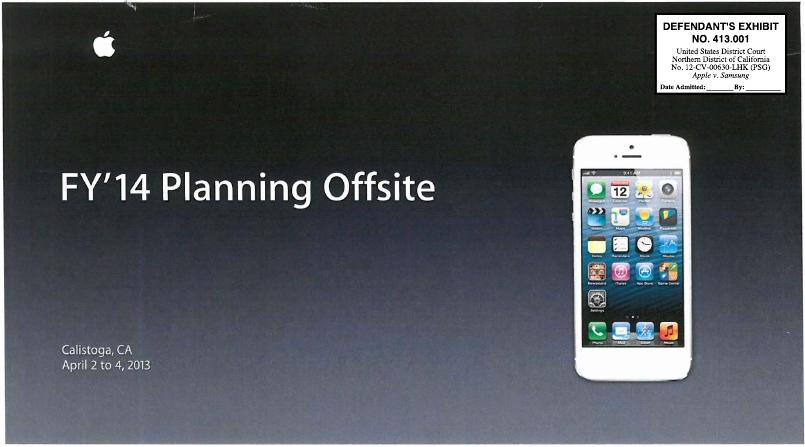 apple planning offsite