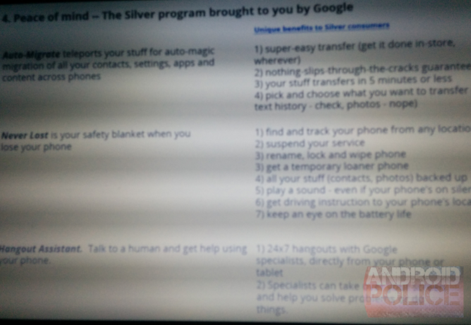 Android Silver Slide