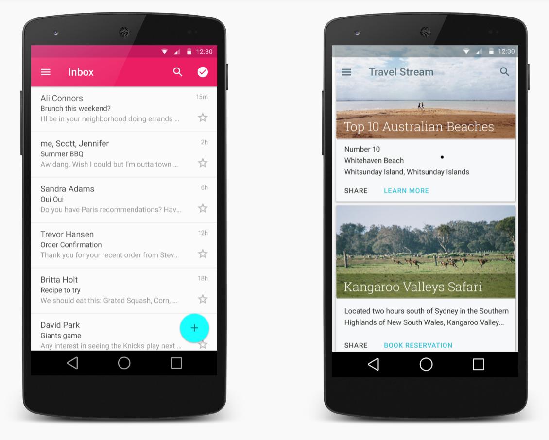 Android L Material UI Design