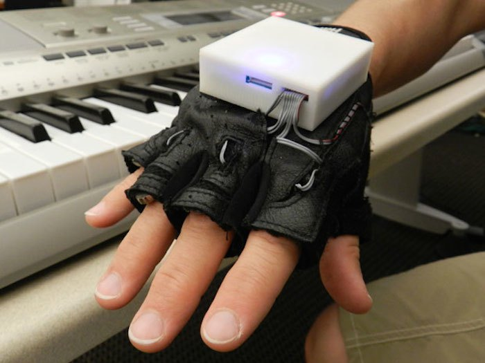 Wearable music touch gloves