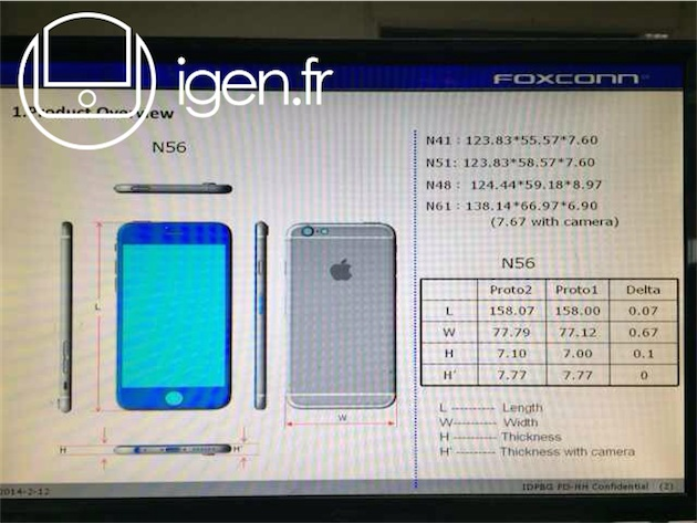 Apple iPhone 6 specifications