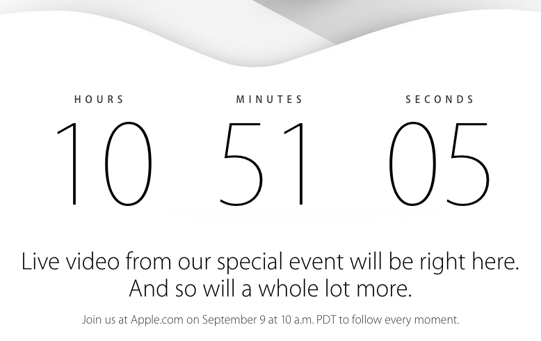 apple iPhone 6 launch event live streaming