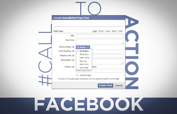 facebook CTA button