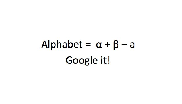 Google Alphabet Decoding