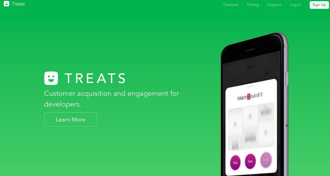 A screenshot of the new 'Treat' SDK (Source: TechChrunch)
