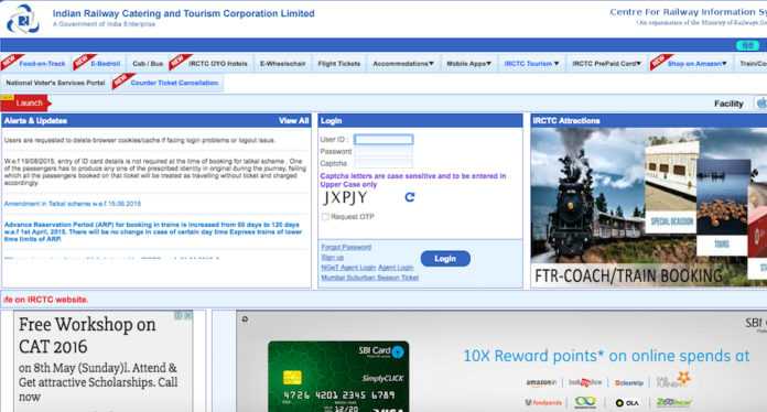 IRCTC website hacked