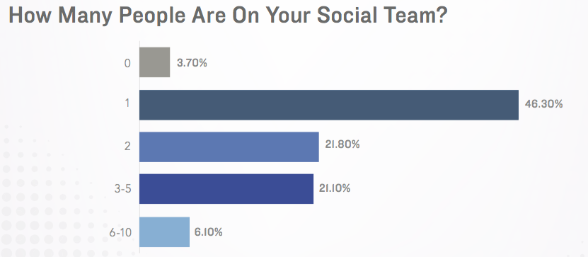 number of employees in a social media team