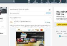 LinkedIn new interface