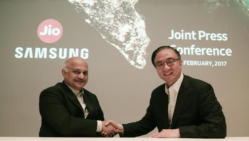 Reliance partners with Samsung