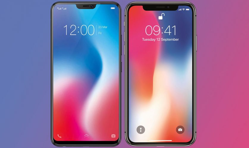 Vivo-V9-vs-Apple-iPhone-X