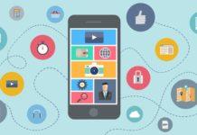 mobile app downloads Q1 2018