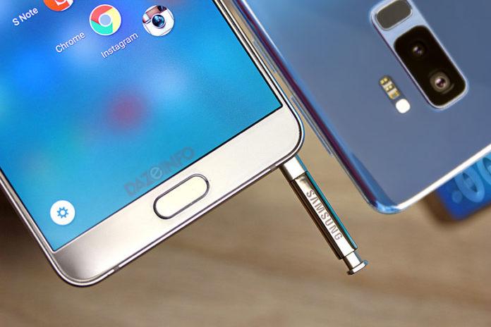 samsung Galaxy Note vs Galaxy S9