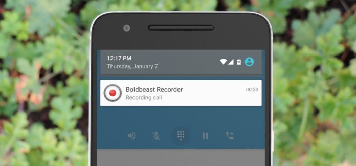 call recording in Android smartphone