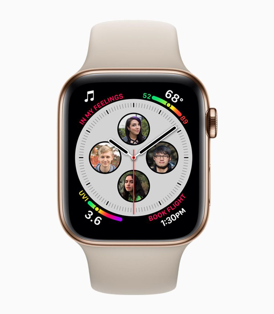 Apple Watch Series 4 with a Series 4-only Watch face