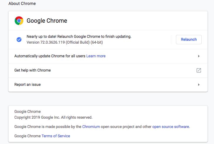 Google Chrome Security threat