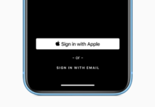 Apple sign-in button for iOS apps