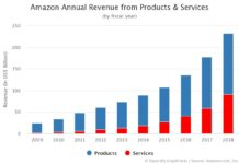 Amazon Annual Revenue from Products and Services