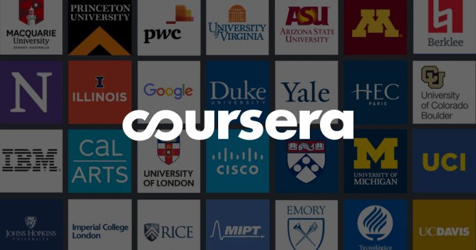 coursera users in India