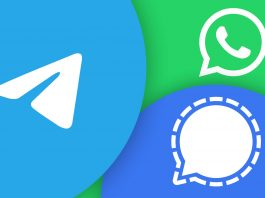 WhatsApp Telegram Signal app installs